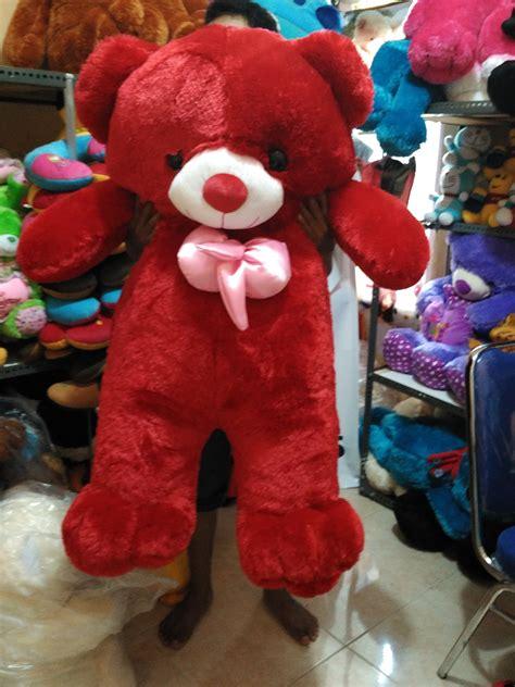 Boneka Teddy Jumbo Tinggi 1 Meter boneka teddy jumbo warna merah jual boneka