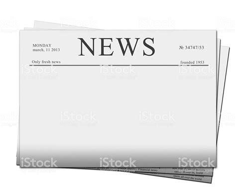 Blank Newspaper Headline Template Stock Photo 177766582 Istock Newspaper Headline Template
