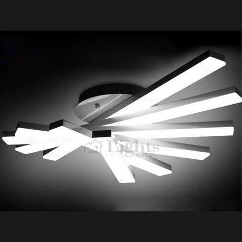 led ceiling fan light fixtures creative fan shaped rotate led ceiling light fixture