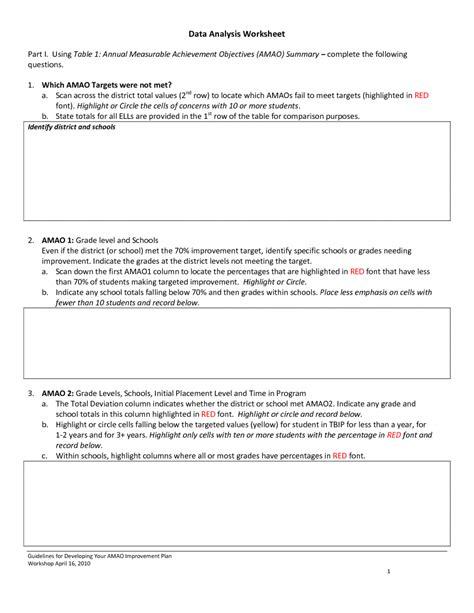 Data Analysis Worksheet by Data Analysis Worksheet 7 Data Analysis Worksheets