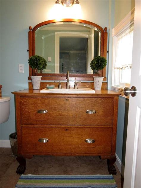 painted bathroom vanity ideas from dresser to bathroom vanity hometalk