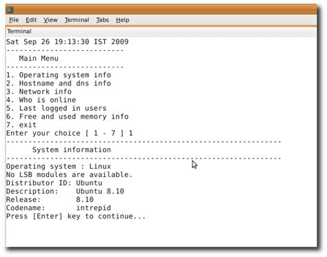 linux shell scripting tutorial a beginners handbook getting information about your system linux shell