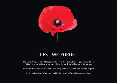 Lest We Forget by Lest We Forget Real Estate