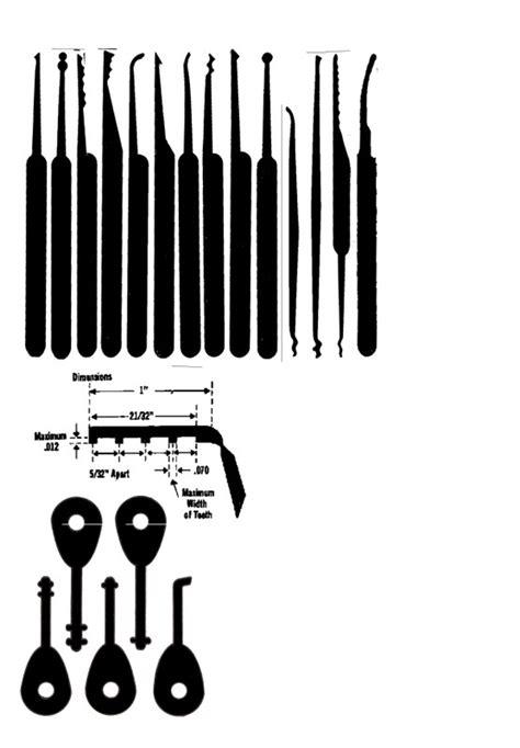 pin lock pick templates printable on pinterest