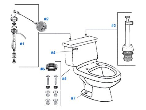 Mansfield Plumbing Products No 08 by Mansfield Aleur Toilet Replacement Parts