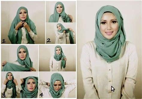 tutorial hijab untuk wajah bulat 2015 kumpulan tutorial hijab untuk wajah bulat lengkap 2017