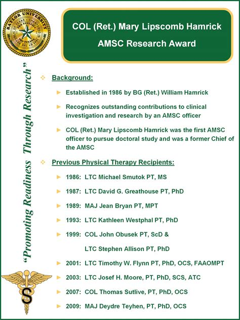Baylor Mba Requirements by Baylor Army Baylor Dpt Col Hamrick Amsc