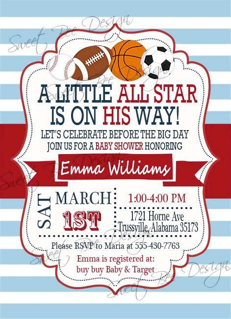 sports baby shower invitations templates sports themed baby shower invitations sports themed ba