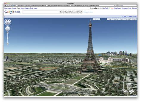 google images eiffel tower eiffel tower via google maps 3d