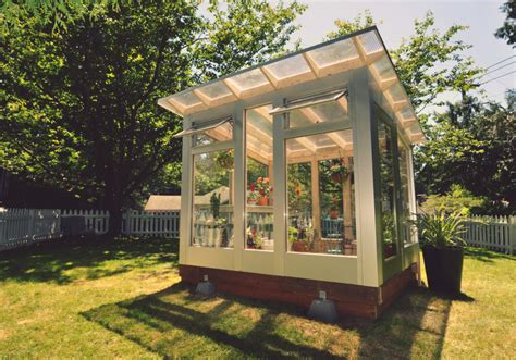 backyard greenhouse kits studio shed