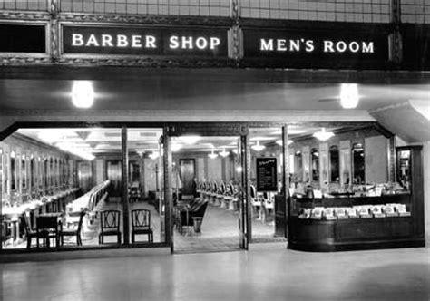Mens Room Barber Shop by Fred Harvey Collection Exhibit Cleveland Ohio Union
