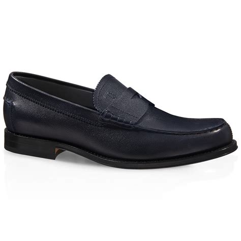 blue leather loafers tod s leather loafers in blue for lyst