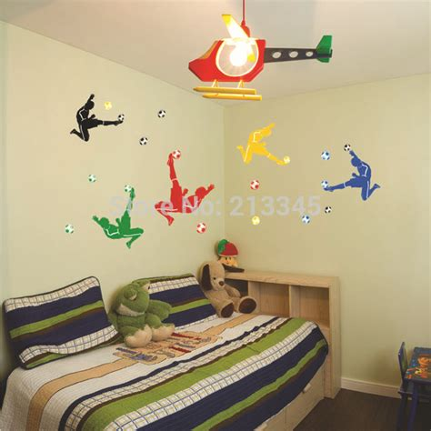 wall art boy bedroom saturday monopoly colorful and creative football wall