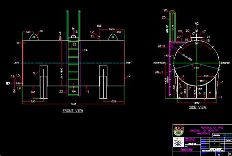 M Drawing In Autocad by Tank 10m3 Dwg Block For Autocad Designs Cad