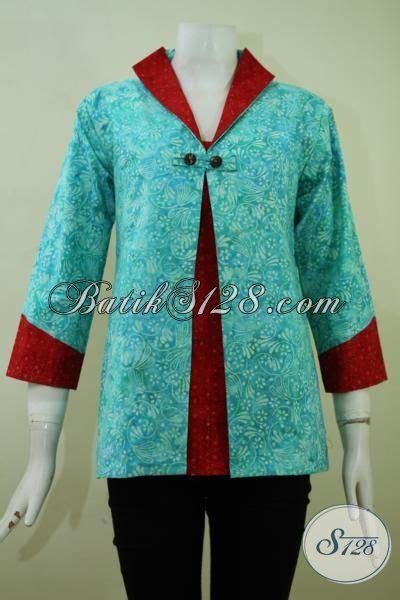 Kombinasi Baju Warna Merah Hati baju batik trendy kwalitas bagus dengan harga terjangkau blus batik kerja wanita karir