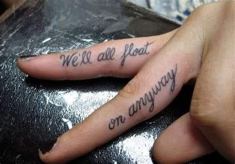 finger tattoos words 28 sublime finger ideas creativefan