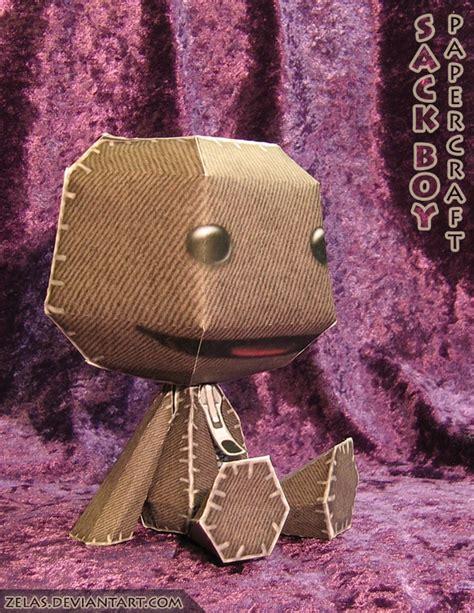 Sackboy Papercraft - littlebigplanet sackboy free paper papertoy