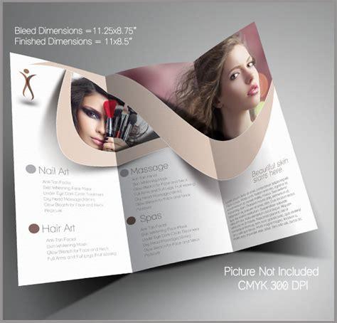 beauty salon brochure template parlour brochure template for free