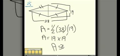 How Do You Find On How To Find The Area Of A Kite 171 Math Wonderhowto