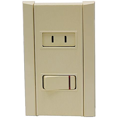 non grounded outlet w illuminated spst switch household