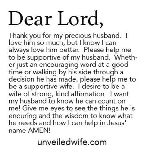 Support Letter From To Husband Prayer Of The Day Being Supportive