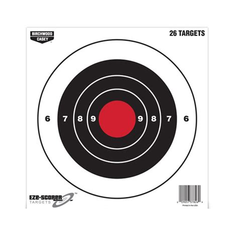 printable muzzleloader targets birchwood casey plain paper target 12 quot sight in