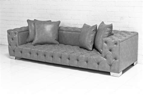 Www Roomservicestore Com Tufted Fat Boy Sofa In Grey Tufted Faux Leather Sofa
