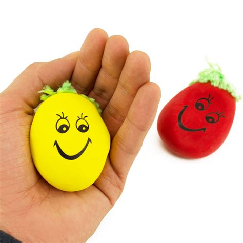 happy face stress relief colorful hand exercise squeeze