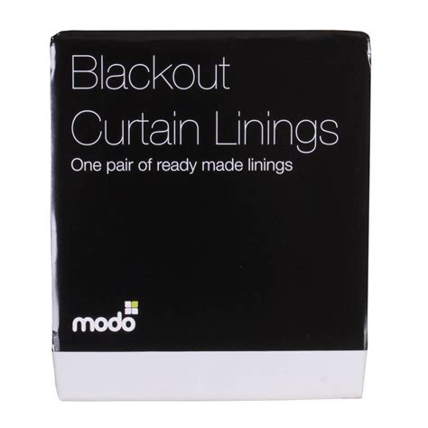 ready made blackout curtain lining blackout readymade lining pair white free uk delivery