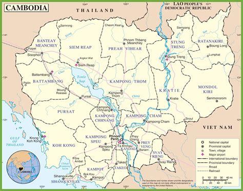 printable map ta cambodia political map
