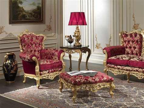 armchair in living room luxury living room in baroque style