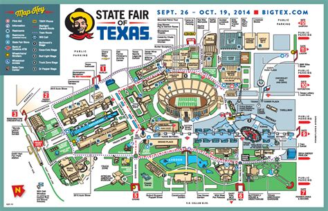 texas state fair map fairgrounds map state fair of texas