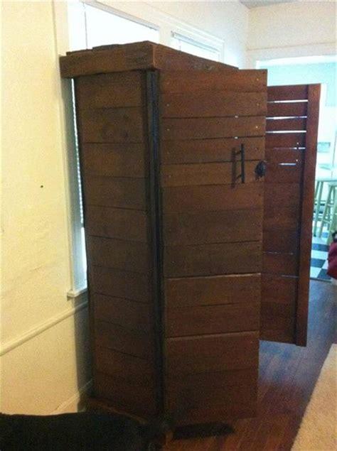 diy pallet cabinet   big storage