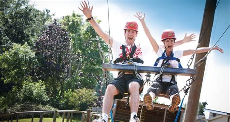 swinging holidays uk pgl family adventures family activity holidays in the uk