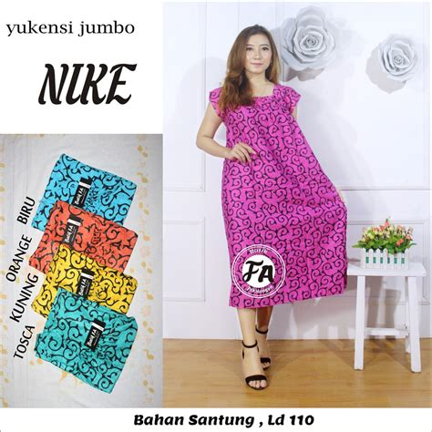 Ecer Daster Yukensi yukensi jumbo nike baju tidur daster murah fashion wanita