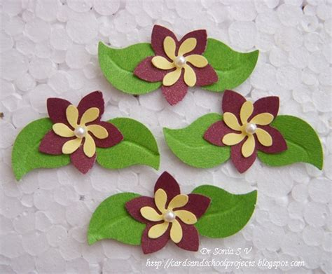 Handcrafted Flowers - cards crafts projects handmade flowers