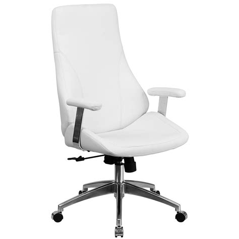 ergonomic home ergonomic home high back white leather executive swivel office chair