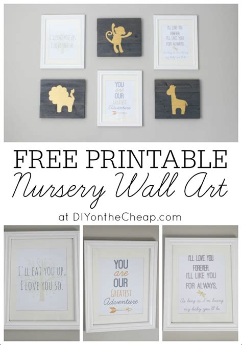 printable art diy free printable nursery wall art erin spain