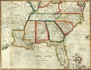 Map Of Southern States Of Usa by Southern Section Of The United States Including Florida Amp C
