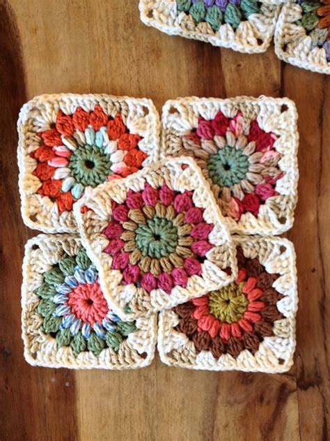 what are these pattern you observe ravelry sunburst granny squares you can make 6 with the