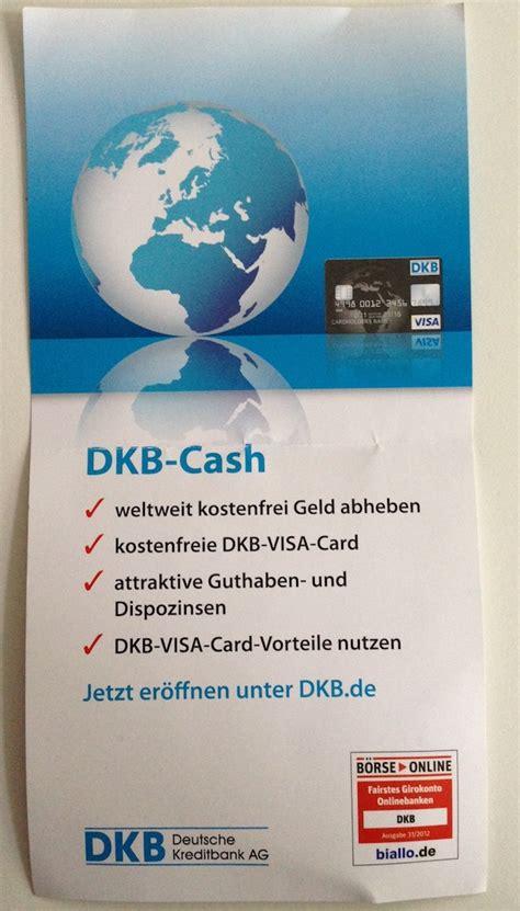 dkb bank geschäftskonto dkb bank visa card eintritt flyer konto mit kreditkarte