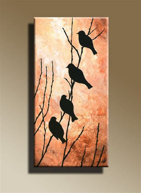 acrylic paint on canvas canvas print of original acrylic painting bird