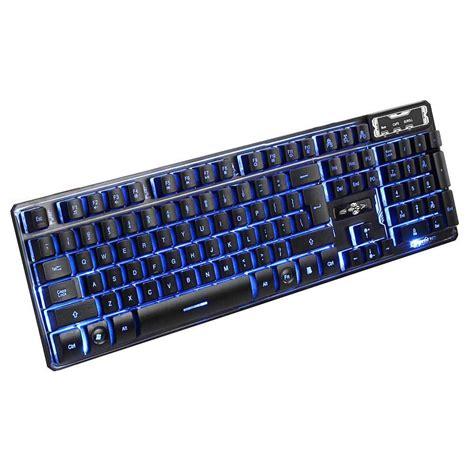Led Keyboard 114 key led illuminated backlit wired usb gaming keyboard with 3 color light us ebay