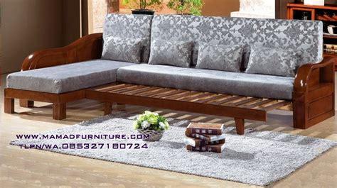 Kursi Kayu Bentuk L sofa sudut l minimalis jati jepara mamad furniture jepara