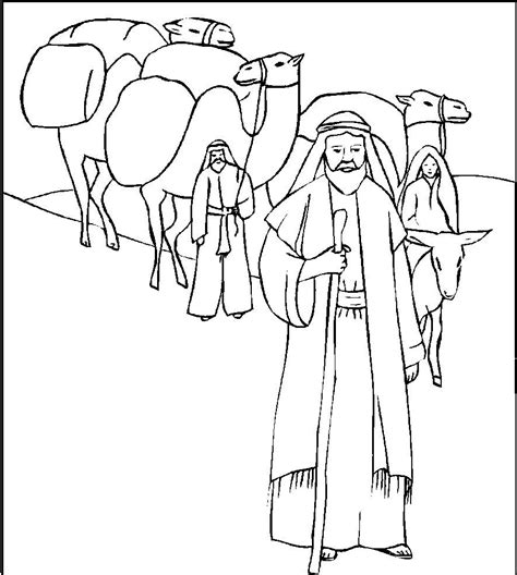coloring page of abraham from the bible abraham abraham drawings