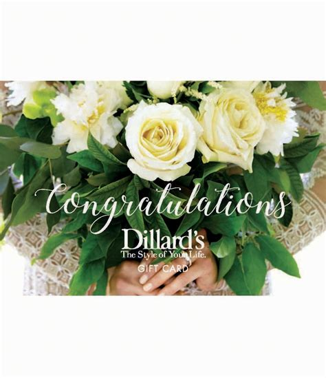 Dillard Gift Card - wedding gift card dillards
