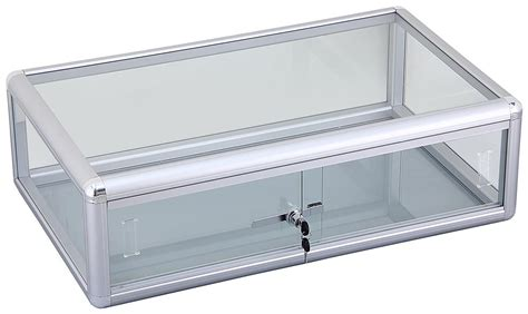 Countertop Showcase by Aluminum Countertop Showcase Glass Top
