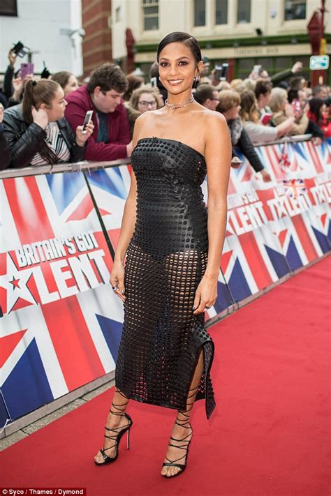 alesha dixon at birmingham bgt auditions in leather dress