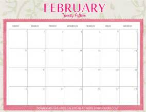 2015 Calendar Template February by 2015 February Calender Modifiable New Calendar