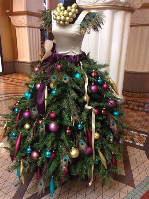 how to design a spectacular christmas tree dress form at